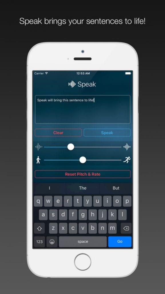speak text speak