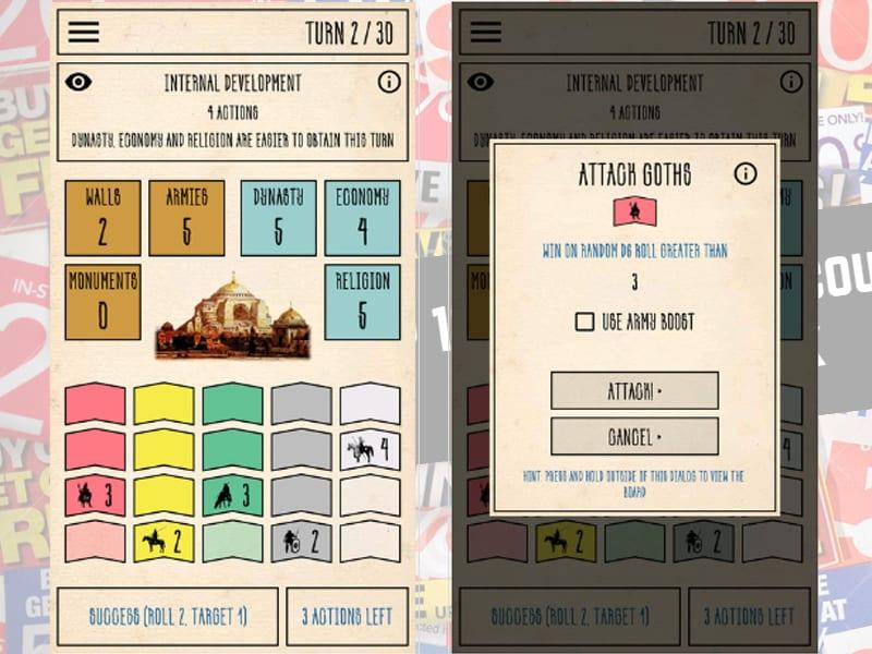 constantinople board app screen