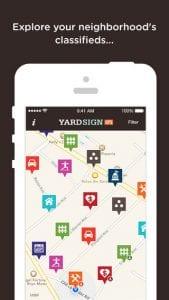 Yard Sign GPS app
