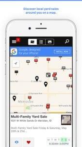 garage sale by map