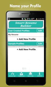 Smart Resume Builder App ...  Resume Maker App