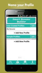 Smart Resume Builder app