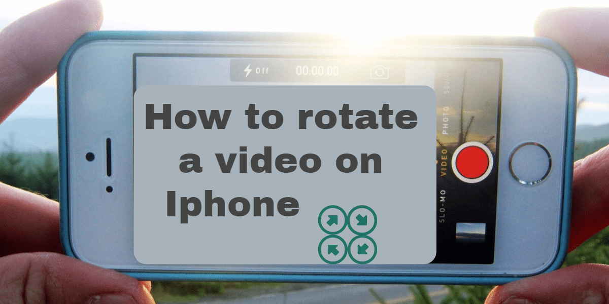 how to rotate a video on iphone
