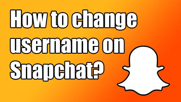 snapchat how to change username