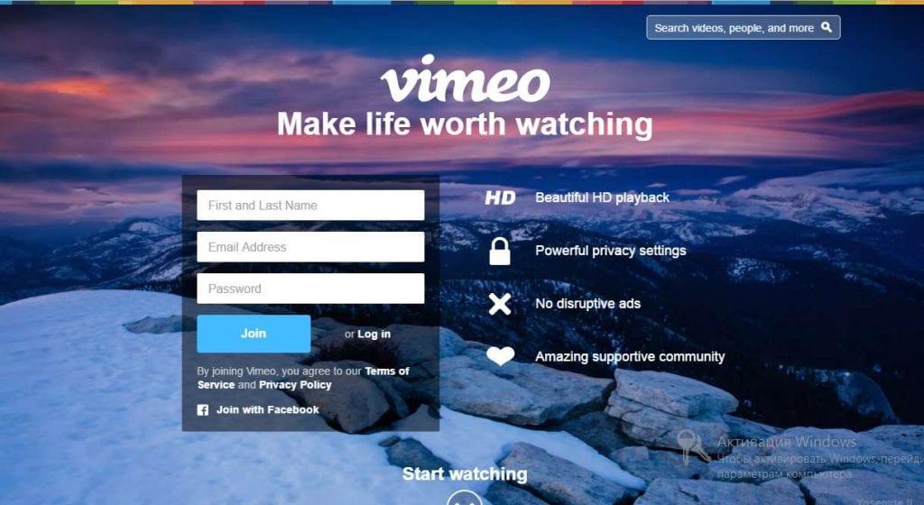 vimeo register