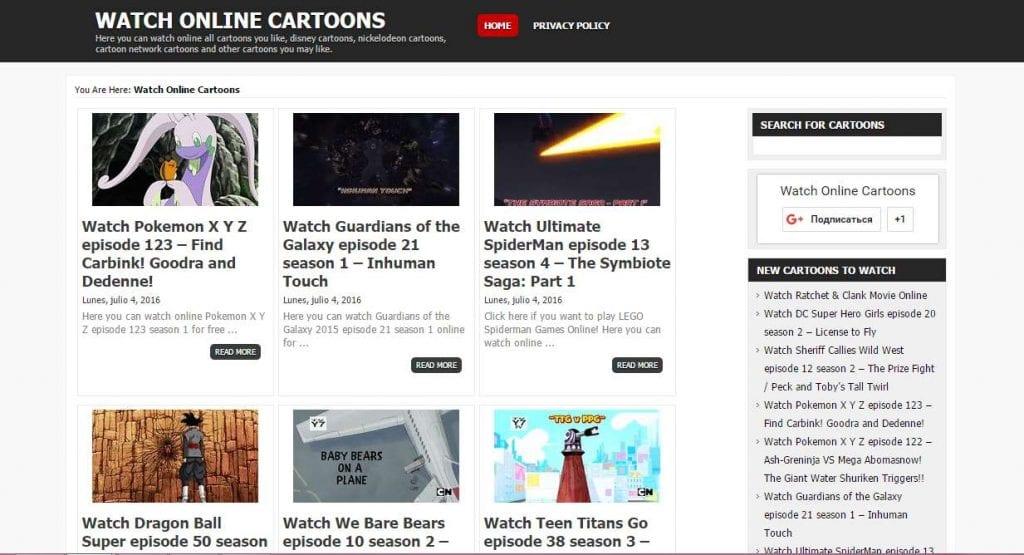 watch online cartoons