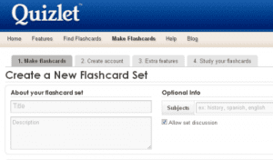 Quizlet-Flashcards