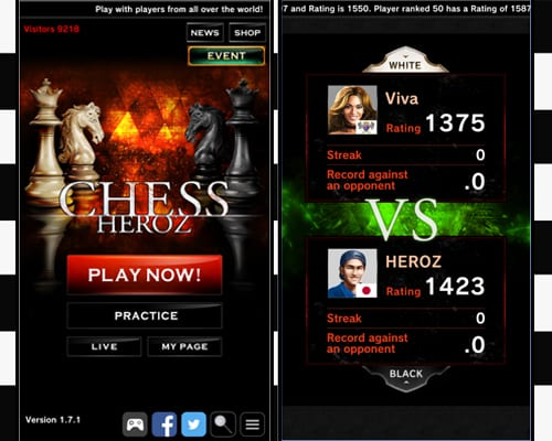 chess heroz screenshot