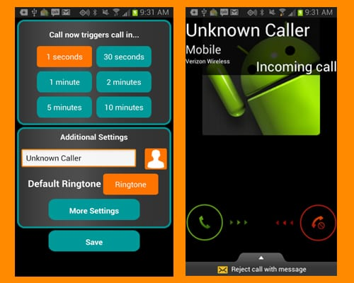 fake-a-call free screenshot