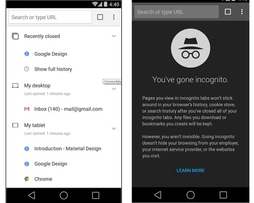 google chrome beta screenshot
