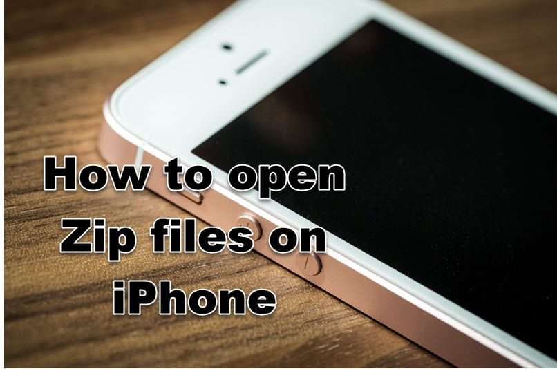 how to open zip files on iphone
