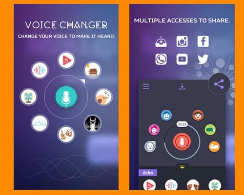 voice changer app screenshot