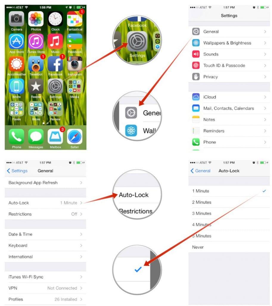 auto-lock iphone