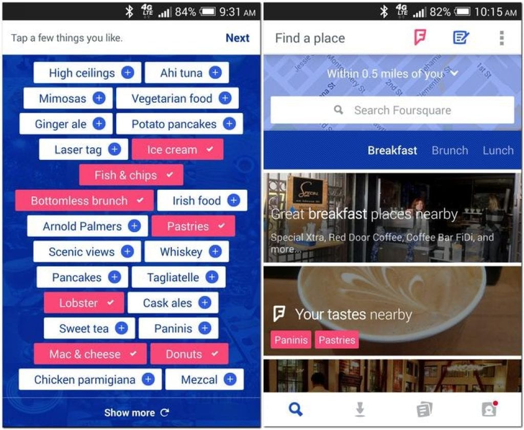 foursquare screen app
