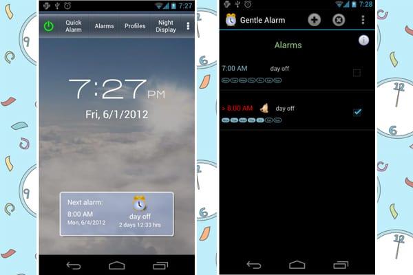 gentle alarm screenshot