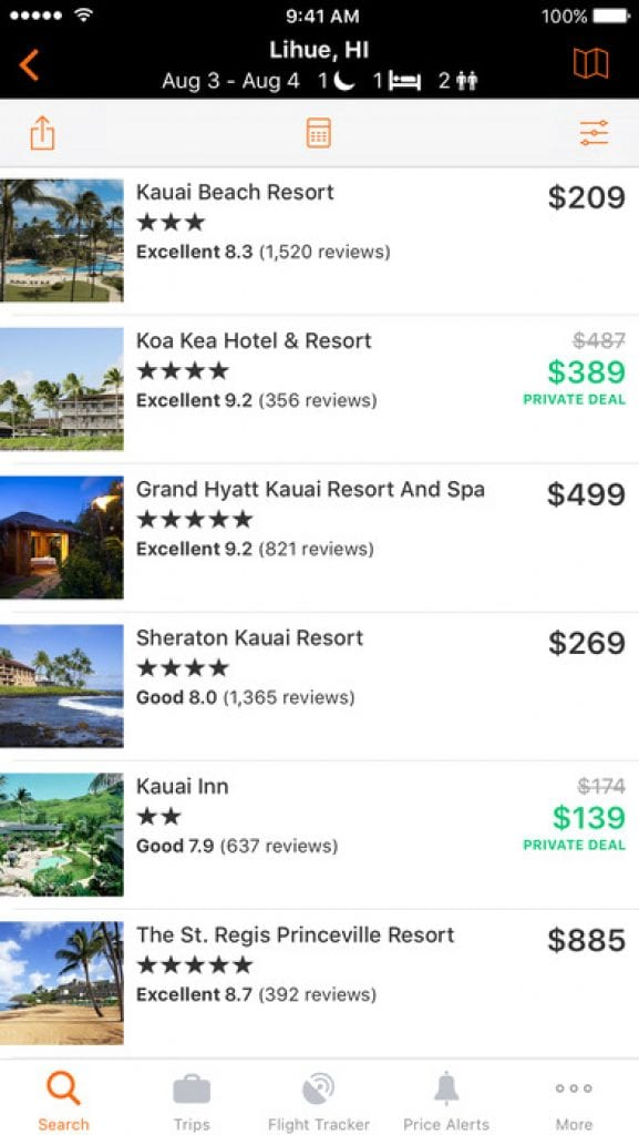 kayak flights hotels