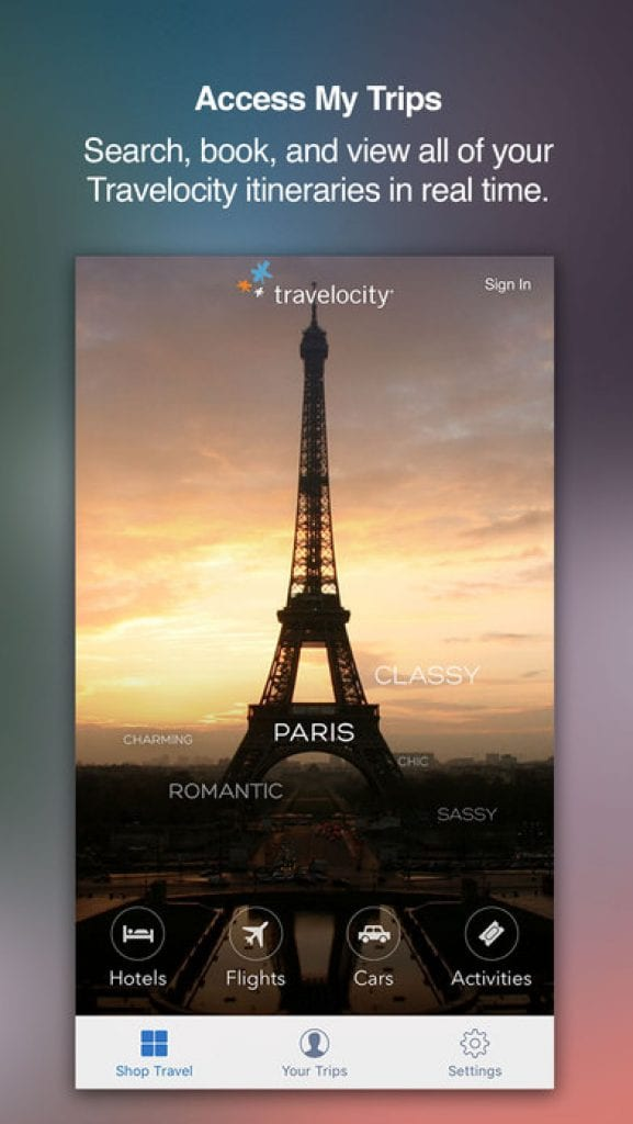 travelocity travel app