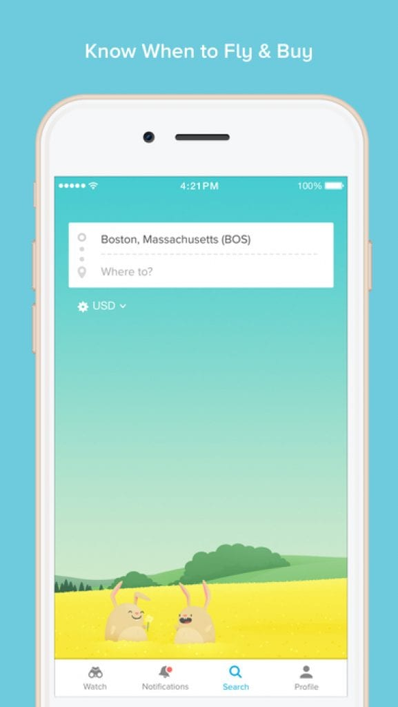 hopper travel app