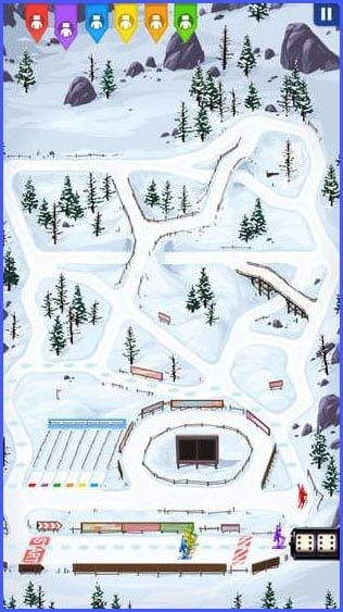 Biathlon Free. Board Game