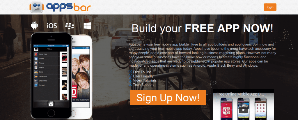 how to create a mobile app for free