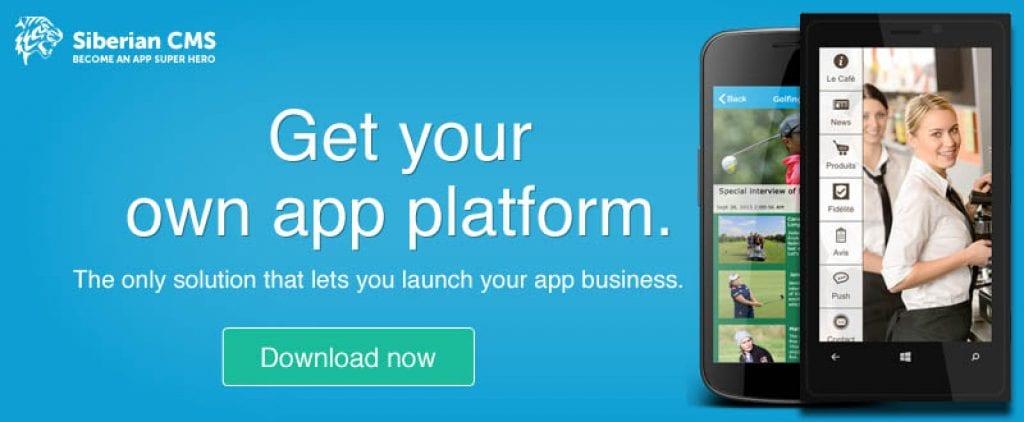 siberian-cms app maker