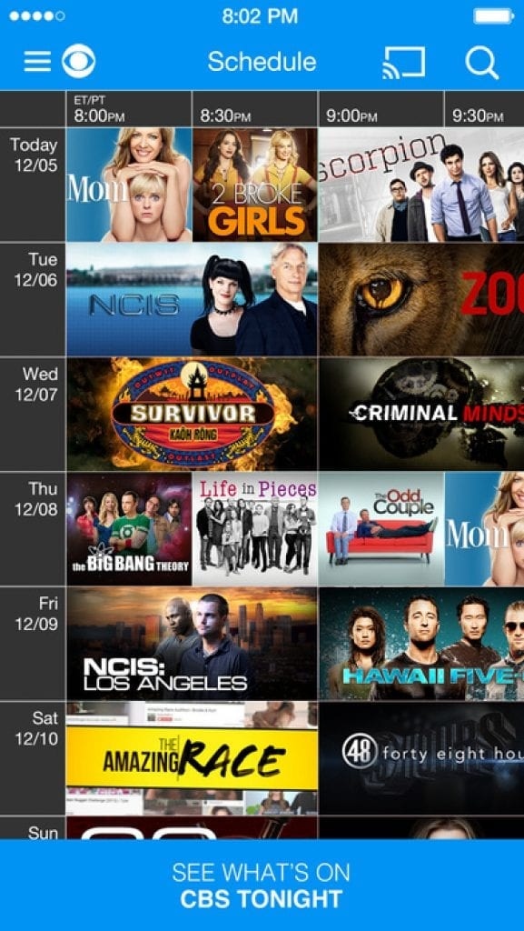 CBS watching TV shows for free