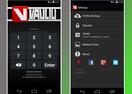 vaulty screenshot