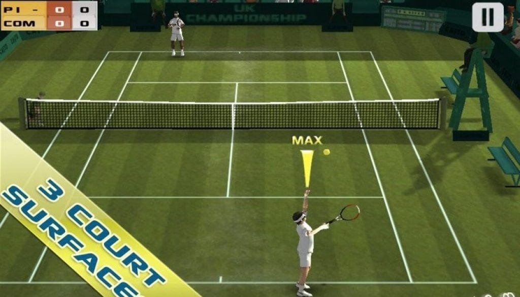 Cross tennis court app