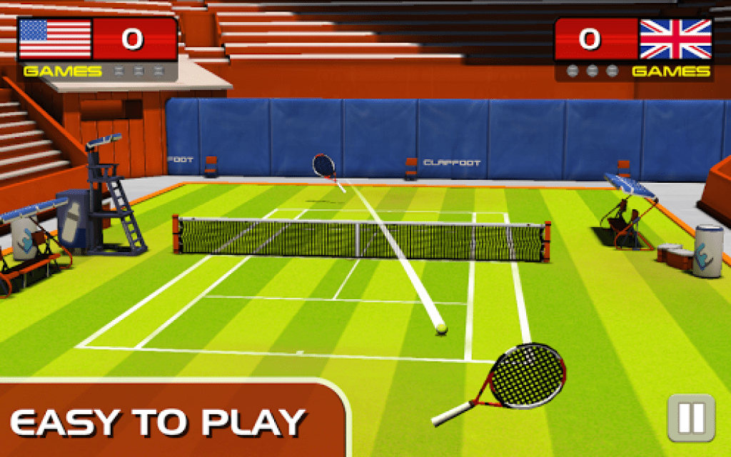 Play tennis game 2016