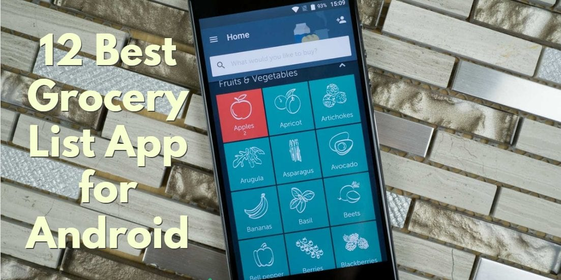 Grocery list apps