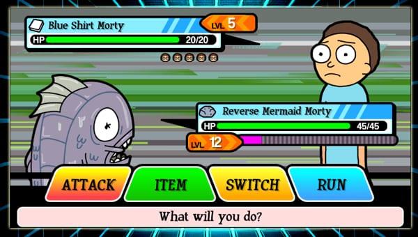 pocket mortys screenshot
