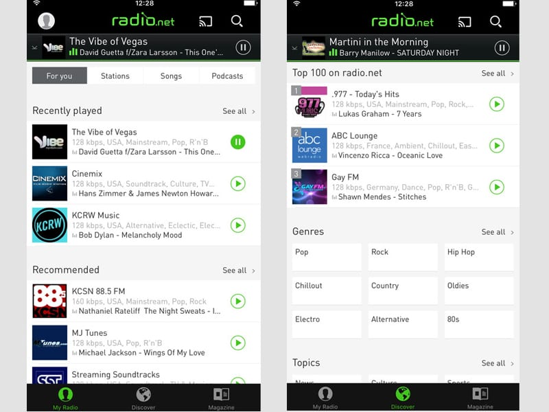 radio.net screenshot