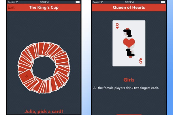 the king's cup screenshot