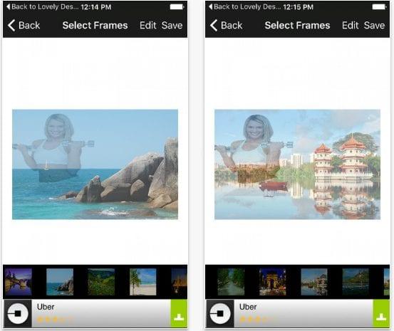 Transparent Crystal Clear Photo Frames Selfie Edit