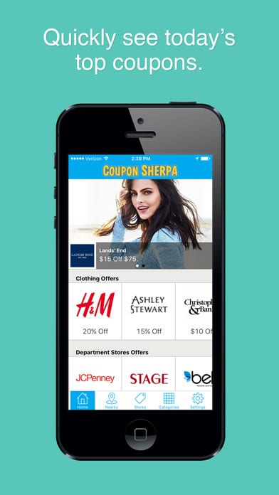 Geo coupons app for iphone