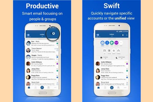 blue mail screenshot