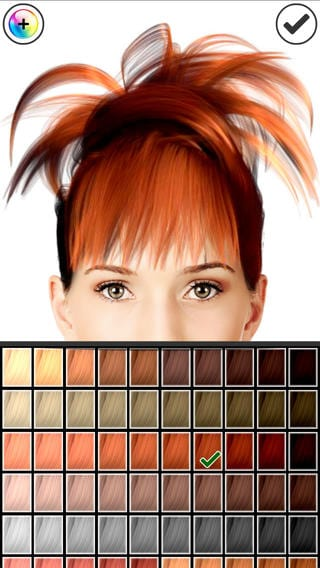 8 best apps to choose your head color android ios free apps for android ios windows and mac. Black Bedroom Furniture Sets. Home Design Ideas