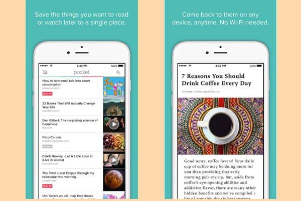 pocket app screenshot