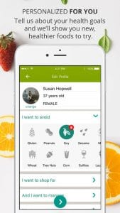 ShopWell Diet, Allergy Scanner