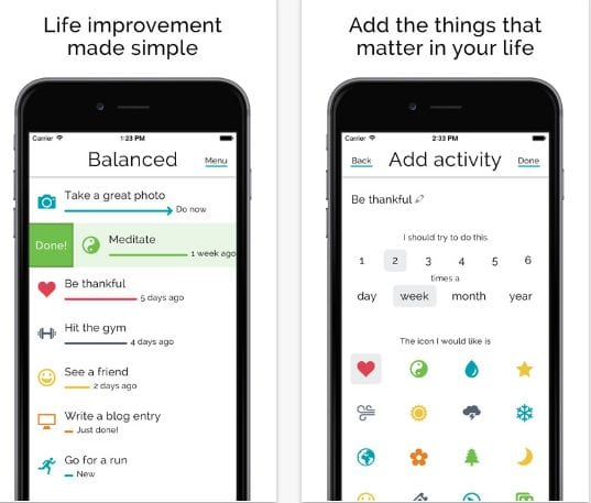 Balanced - Habits tracker & life goals motivation