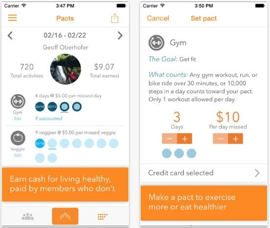 Pact: Earn Cash for Exercise and Healthy LivingPrice