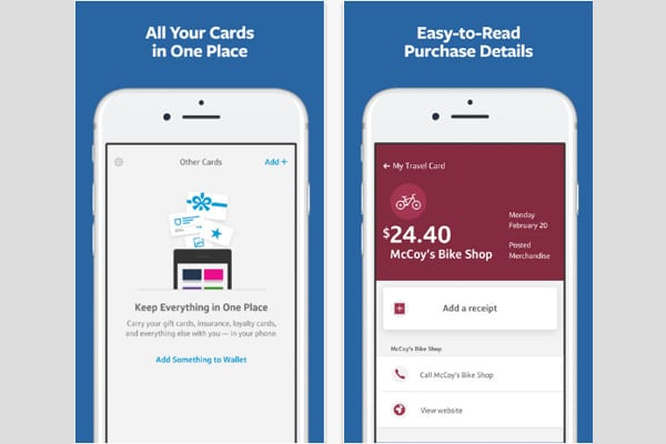 capital one wallet screen