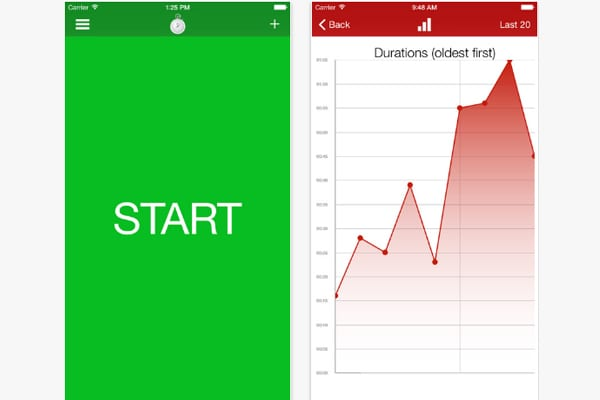contraction timer screen