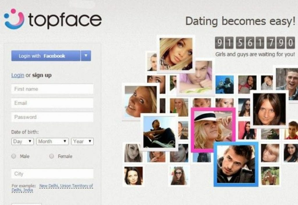 Topface dating type all the right