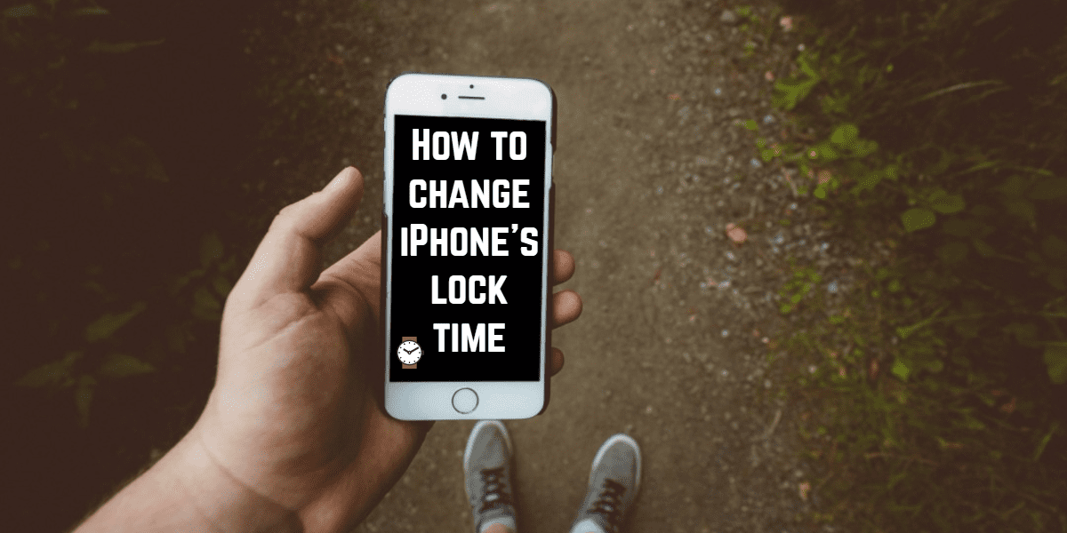 change iphone's lock-time