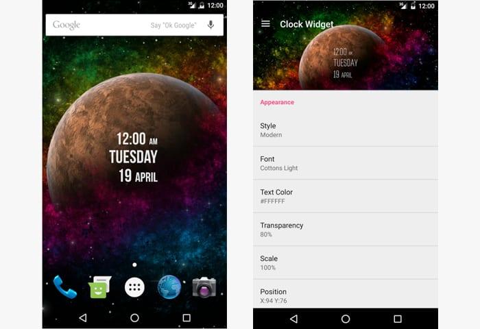 clock widget app