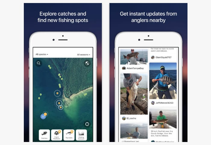 fishbrain app screen