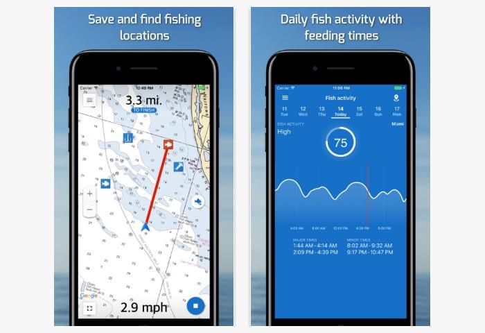 fishing points app screen