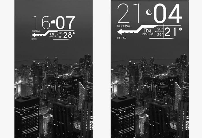 lines clock app