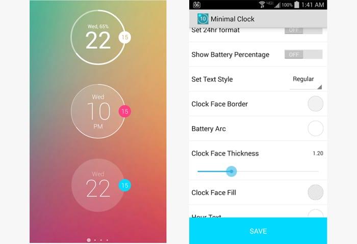 minimal clock app